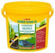 Основной корм Sera CICHLID GREEN XL для крупных растительноядных цихлид, гранулы 3,8 л