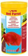 Корм Sera RED PARROT для яркой окраски рыб, гранулы 1 л