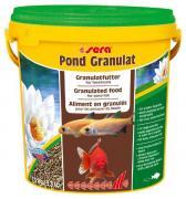 Корм основной Sera Pond BIOGRANULAT для крупных прудовых рыб, гранулы 10 л