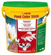 Корм Sera COLOR STICKS для яркой окраски прудовых рыб, гранулы 10 л