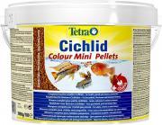 TetraCichlid Colour Mini корм для яркого окраса небольших цихлид, мини мульти шарики 10 л