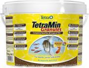 TetraMin Granules основной корм для всех видов аквариумных рыб, гранулы 10 л