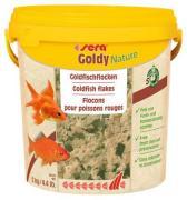 Основной корм Sera GOLDY NATURE для рыб, хлопья 10 л