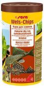 Основной корм Sera WELS CHIPS для придонных рыб, чипсы 1000 мл