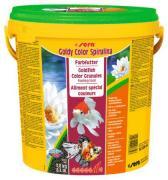 Основной корм Sera GOLDY Color Spirulina для яркой окраски золотых рыб, гранулы 10 л