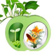 Мини-аквариум для рыб Sensen YB-02G, зеленый, 4,5 л