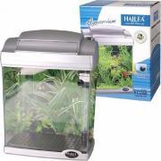 Мини-аквариум Hailea детский с фильтрацией и освещением, серебро, 4,8 л, 21,5х14х28 см