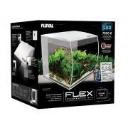 Аквариум Fluval Flex с изогнутым стеклом белый