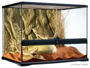 Exo Terra террариум из силикатного стекла с дверцами, покровной сеткой и декоративным фоном, 60х45х45 см
