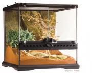 Exo Terra террариум из силикатного стекла с дверцами, покровной сеткой и декоративным фоном, 30х30х30 см