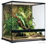 Exo Terra террариум из силикатного стекла с дверцами, покровной сеткой и декоративным фоном, 60х45х60 см