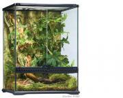 Exo Terra террариум из силикатного стекла с дверцами, покровной сеткой и декоративным фоном, 45х45х60 см
