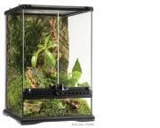 Exo Terra террариум из силикатного стекла с дверцами, покровной сеткой и декоративным фоном, 30х30х45 см