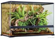 Exo Terra террариум из силикатного стекла с дверцами, покровной сеткой и декоративным фоном, 90х45х60 см