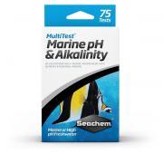 Тест для воды Seachem MultiTest: pH & Alkalinity на уровень pH и общую щелочность, 75 шт.