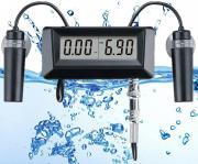 Термометр для аквариумов с выносными датчиками температуры и pH ТЕХМЕТР ТКВ-01503 (Черный)