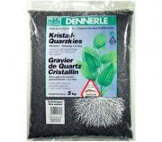 Аквариумный грунт Dennerle CRYSTAL QUARTZ GRAVEL, гравий 1-2 мм, черный, 5 кг
