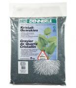 Аквариумный грунт Dennerle CRYSTAL QUARTZ GRAVEL, гравий 1-2 мм, темно-серый, 5 кг