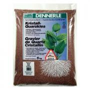 Аквариумный грунт Dennerle CRYSTAL QUARTZ GRAVEL, гравий 1-2 мм, темно-коричневый, 5 кг