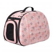 Складная сумка-переноска Ibiyaya для собак и кошек до 6 килограммов бледно-розовая в цветочек