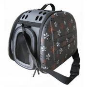 Складная сумка-переноска Ibiyaya для собак и кошек до 6 килограммов серая в цветочек