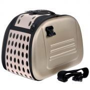Сумка-переноска для собак и кошек Ibiyaya до 6кг 30х46х32см бежевая