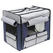 Домик для собак Triol Дом-тент M, синий, серый, 61x46x54см