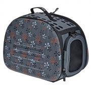 Переноска для кошек и собак IBIYAYA, складная сумка с окном, сине-серая, 42х30х32 см