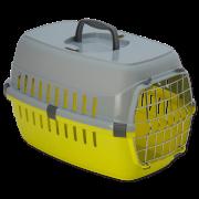 Переноска для собак серо-желтая 48,5*32,3*30,1см