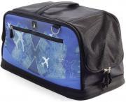 Сумка-переноска для домашних животных Triol Santorini, черно-синяя, 50x22х23 см