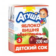 Сок Агуша Яблоко и вишня с 5 мес 200 мл
