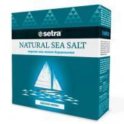 Соль морская Setra мелкая йодированная 500гр