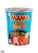 Лапша МАМА со вкусом морепродуктов,стакан, 70 гр