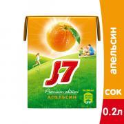 J7 / Джей Севен Апельсин 0,2л (27шт.)