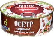 Осетр с овощами и фасолью в томатном соусе, 240 г