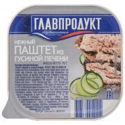 Паштет Главпродукт нежный из гусиной печени 95 г