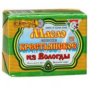 Масло из Вологды сливочное Крестьянское 72,5% БЗМЖ 180 гр