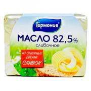 Масло Гармония сливочное БЗМЖ 82.5% 180 гр
