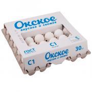 Яйцо куриное Окское С1 белое 30 шт