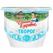 Творог мягкий Домик в деревне 0,1% ванна