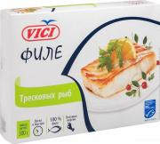 Филе тресковых рыб мороженые, порционные 300 г. Vici