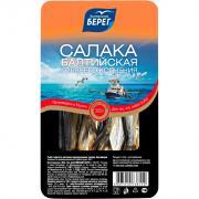 Салака Балтийский берег фасованная горячего копчения 300 г