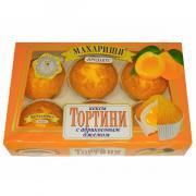 Кексы Махариши Тортини с абрикосовым джемом 200 гр