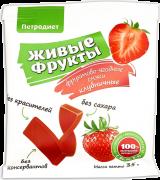 Снэки ягодно-фруктовые Петродиет Живые фрукты клубничные, 35 г