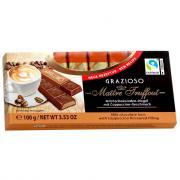 """Молочный шоколад с начинкой """"Капучино"""" GRAZIOZO Maitre Truffout, 100г"""