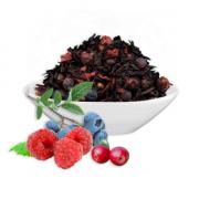 Листовой Иван-чай ферментированный с ягодами весовой Премиум