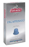 Капсулы Carraro Decaffeinato системы Nespresso, 10 шт