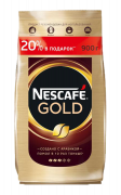 Кофе растворимый Nescafe Gold, пакет, 900 г