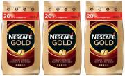 Nescafe Кофе растворимый Nescafe Gold м/у с добавлением молотого 900 г 3 штуки 269270