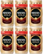 Nescafe Кофе растворимый Nescafe Gold м/у с добавлением молотого 900 г 6 штук 269271